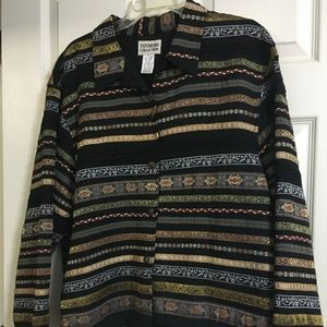 Nice lined striped jacket by Tantrums XL